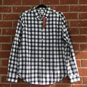 NWT Navy blue and white button down